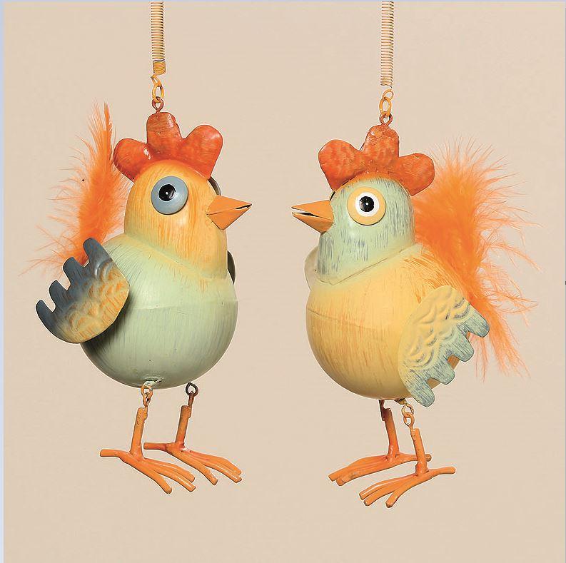 Gro e bunte metall figur vogel 51 53cm exotische v gel for Tiere aus rostigem metall